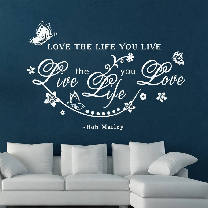 Bob Marley Live The Life You Love Wall Art - Muse Raven - Dream Out Loud