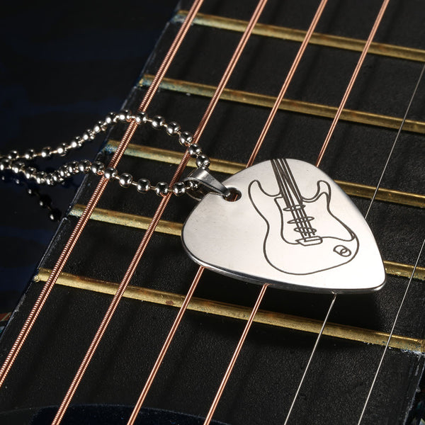 Fender Stratocaster Stainless Steel Necklace - Muse Raven - Dream Out Loud