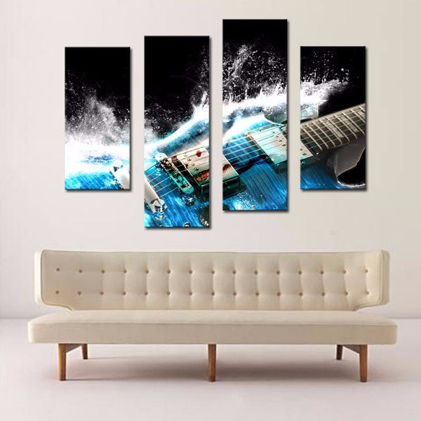 Four Parts Artistic Les Paul Canvas Painting - Muse Raven - Dream Out Loud