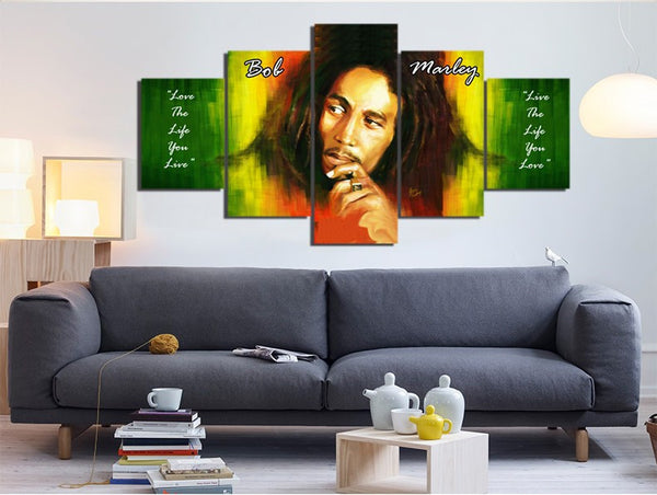 Bob Marley HD Live The Life You Love Canvas