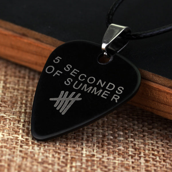 5 Seconds of Summer Stainless Steel Pick Necklace - Muse Raven - Dream Out Loud
