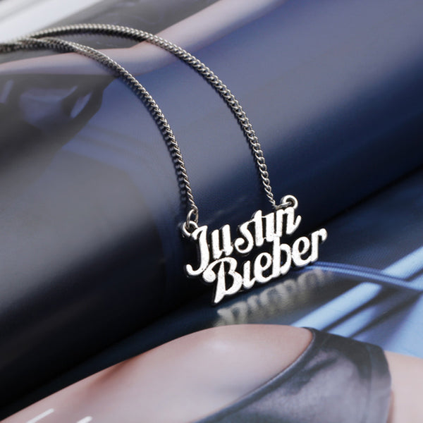 Justin Bieber Steel Necklace - Muse Raven - Dream Out Loud