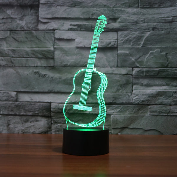 3D Color Changing Guitar Lamp