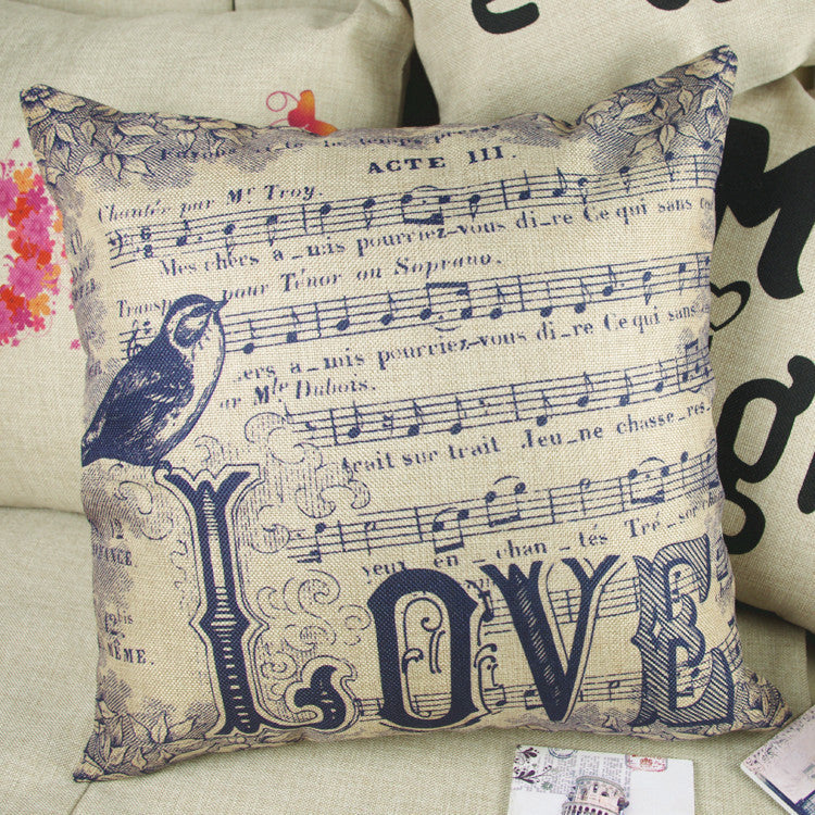 Music is Love Pillow Case - Muse Raven - Dream Out Loud