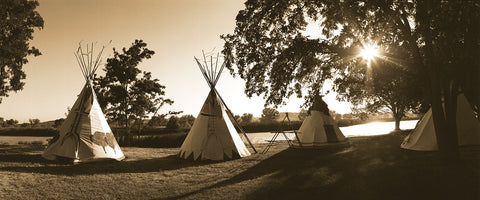 Four Teepees Panoramic Standard Art Print
