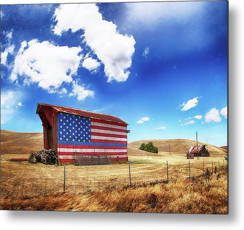 The Blue Line Metal Print