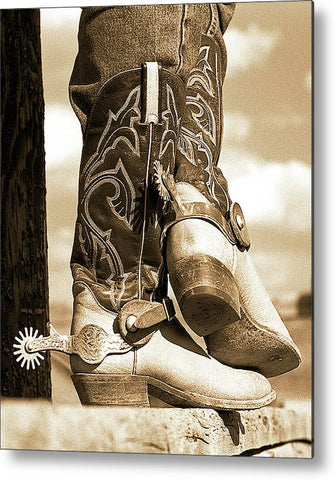 Casual Living Sepia Metal Print