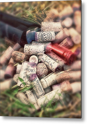Corks and Bottle Metal Print