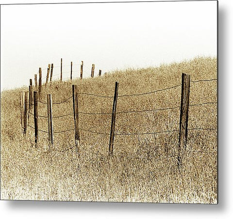 Counting Posts Metal Print
