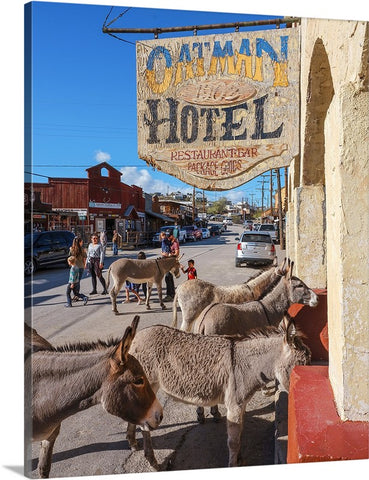 Oatman Hotel Check In, Arizona Canvas