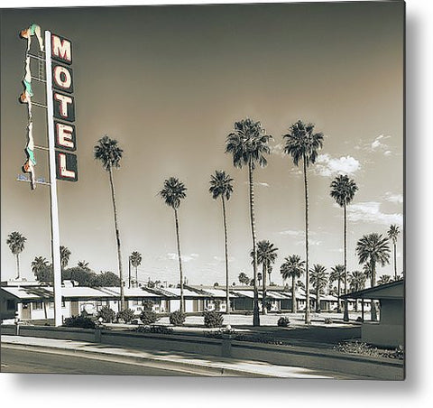 Dive Motel Metal Print