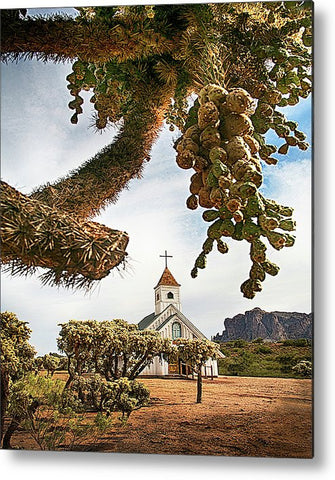 Elvis Chapel Metal Print