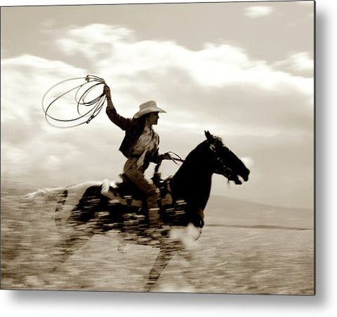 Ride with the Wind Metal Print