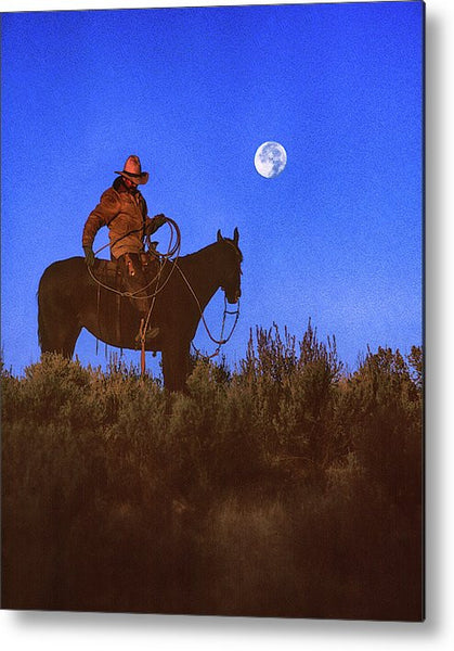 Roped the Moon Metal Print