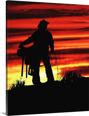 Sunrise Cowboy Canvas