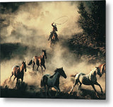 The Last Roundup Metal Print