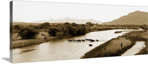 Verde River Crossing Panoramic Canvas