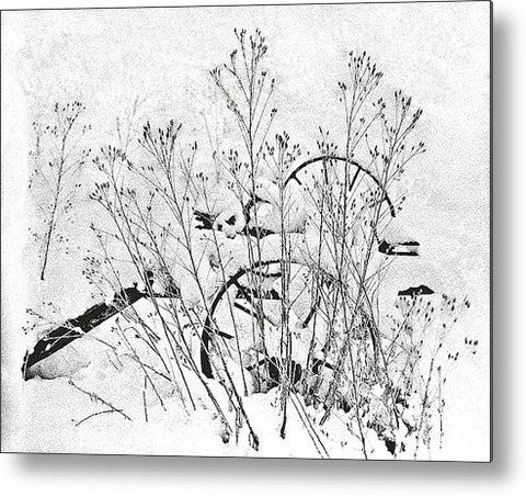 Wheels N Snow Metal Print
