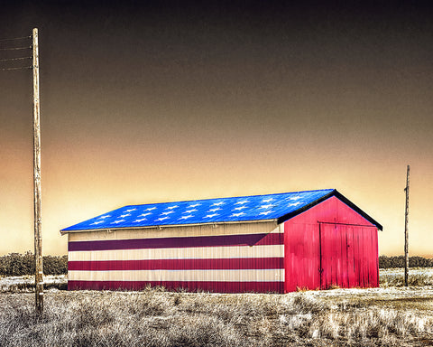 All American Barn Metal Print