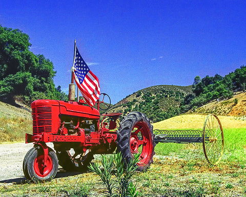 All American Tractor Metal Print