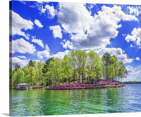 The Azalea House, Lakeside, South Carolina Canvas