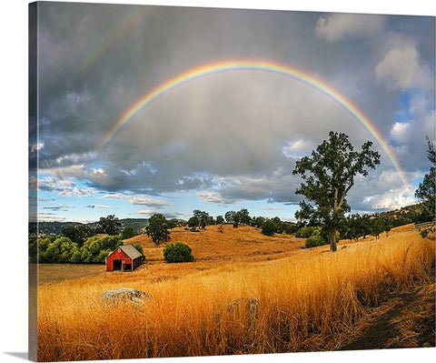 Rainbow Barn Canvas