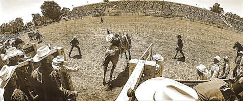 Behind the Chutes Panoramic Metal Print