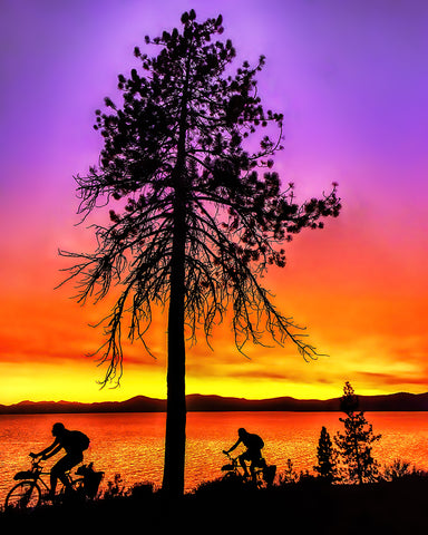 Riding Around the Lake, Lake Tahoe, Nevada/California