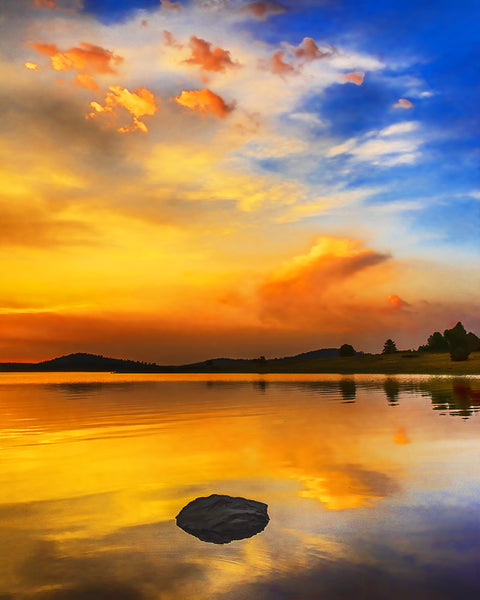 Big Lake Sunset, White Mountains, Arizona Standard Art Print