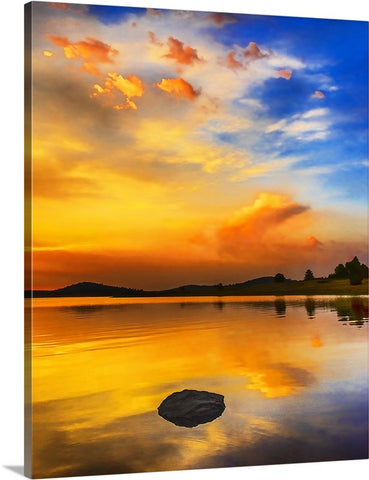 Big Lake Sunset, White Mountains, Arizona Canvas