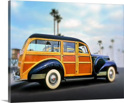 Blue Woody Canvas