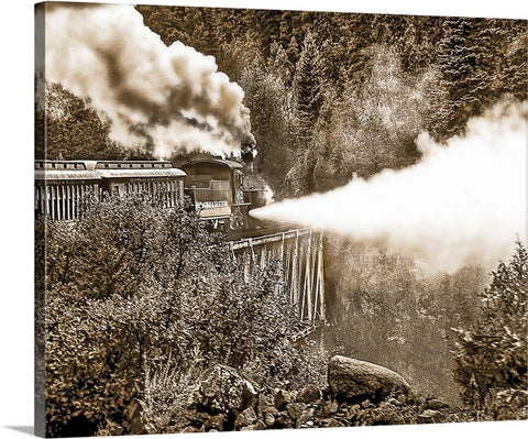 Blowing Steam Canvas