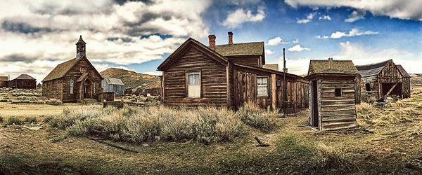 Bodie Ghost Town Panoramic Standard Art Print