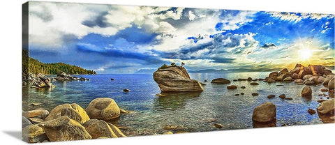 Bonsai Rock Panoramic Canvas