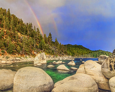 Boulder Bay Rainbows Standard Art Print