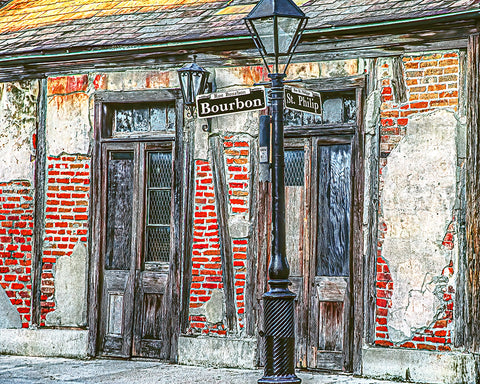 Bourbon Street, New Orleans, Louisiana Standard Art Print