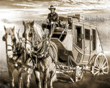The Mail Will Go Through Sepia Metal Print