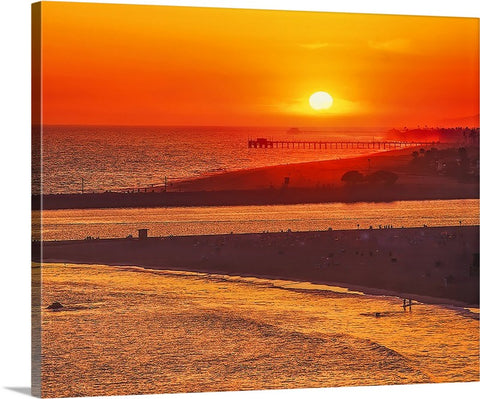 Newport and Balboa Beaches and Pier Canvas