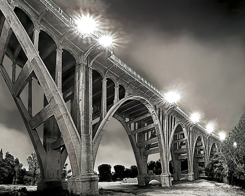 Colorado Street Bridge, Pasadena, California Standard Art Print