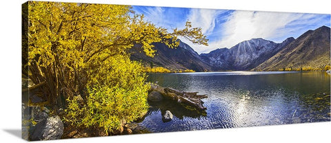 Convict Lake Sunset Panoramic Canvas