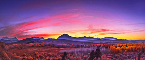 Conway Summit Afterglow Panoramic Metal Print