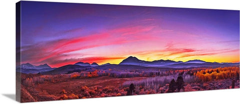 Conway Summit Afterglow Panoramic Canvas