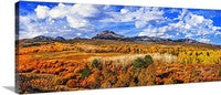 Conway Summit Late Autumn Panoramic Canvas