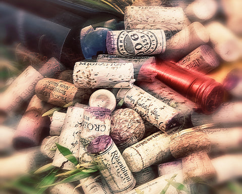 Corks and Bottle Horizontal Metal Print