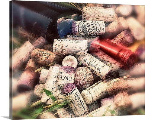 Corks and Bottle Horizontal Canvas