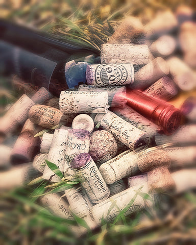 Corks and Bottle Vertical Standard Art Print