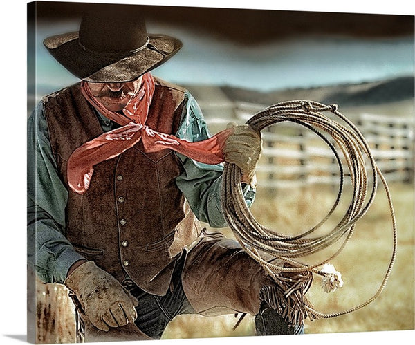 Cowboy and Rope Canvas