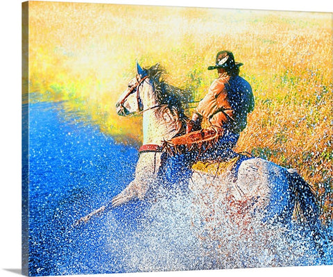 Cowboy Splash Canvas