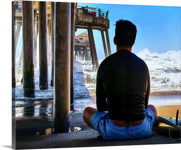 Decision Time, Huntington Beach, California Canvas