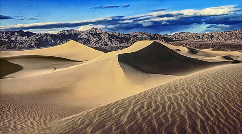 Death Valley Dunes, Death Vallley National Park, California Panoramic